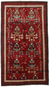 Lori Rug 145X265 Authentic  Oriental Handknotted Dark Red/Dark Brown (Wool, Persia/Iran)