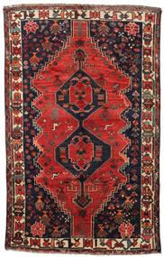 Shiraz Matta 158X250 Äkta Orientalisk Handknuten Mörkblå/Mörkröd (Ull, Persien/Iran)