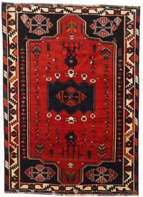 Shiraz Matta 170X233 Äkta Orientalisk Handknuten Svart/Roströd (Ull, Persien/Iran)