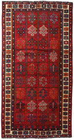 Shiraz Matta 149X285 Äkta Orientalisk Handknuten Mörkröd/Roströd (Ull, Persien/Iran)