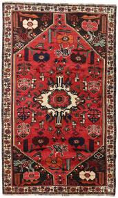 Shiraz Matta 152X252 Äkta Orientalisk Handknuten Mörkbrun/Roströd (Ull, Persien/Iran)