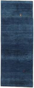 Gabbeh Persan Tapis 78X202 Moderne Fait Main Tapis Couloir Bleu Foncé (Laine, Perse/Iran)