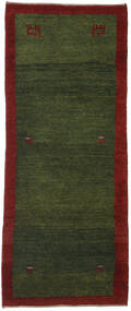 Gabbeh Perzsa Szőnyeg 84X204 Modern Csomózású Sötétzöld/Sötétpiros (Gyapjú, Perzsia/Irán)