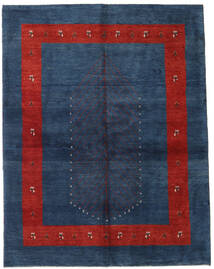 Gabbeh Persia Rug 157X203 Authentic  Modern Handknotted Dark Blue/Rust Red (Wool, Persia/Iran)