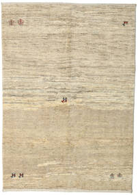Gabbeh Persia Rug 144X204 Authentic  Modern Handknotted Beige/Light Grey (Wool, Persia/Iran)