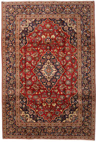 Keshan Rug 200X292 Authentic  Oriental Handknotted Dark Red/Dark Brown (Wool, Persia/Iran)