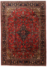 Mahal Rug 206X288 Authentic  Oriental Handknotted Dark Red/Dark Brown (Wool, Persia/Iran)