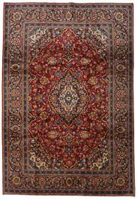 Keshan Rug 212X313 Authentic Oriental Handknotted Dark Red/Dark Brown (Wool, Persia/Iran)