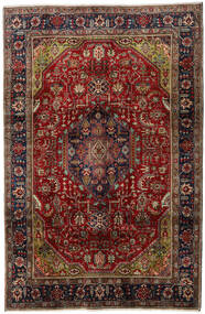 Tabriz Rug 202X310 Authentic  Oriental Handknotted Dark Brown/Dark Red (Wool, Persia/Iran)