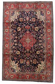 Mahal Matto 210X333 Itämainen Käsinsolmittu Tummanpunainen/Tummanvioletti (Villa, Persia/Iran)