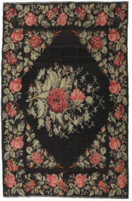 Rose Kelim Moldavia Rug 172X265 Authentic  Oriental Handwoven Dark Grey/Olive Green (Wool, Moldova)