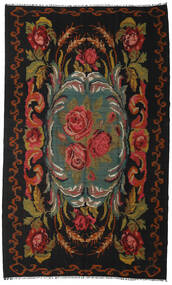 Rose Kelim Moldavia Rug 192X317 Authentic  Oriental Handwoven Black/Brown (Wool, Moldova)