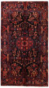 Nahavand Rug 160X281 Authentic  Oriental Handknotted Dark Brown/Dark Red (Wool, Persia/Iran)