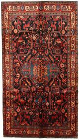 Nahavand Matta 153X270 Äkta Orientalisk Handknuten Mörkröd/Mörkbrun (Ull, Persien/Iran)
