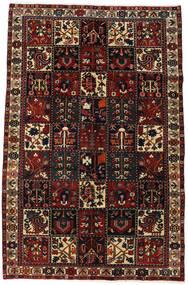 Bakhtiar Matta 162X262 Äkta Orientalisk Handknuten Mörkbrun/Mörkröd (Ull, Persien/Iran)