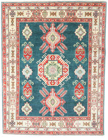 Kazak Rug 156X202 Authentic  Oriental Handknotted Beige/Rust Red (Wool, Pakistan)