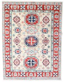 Kazak Dywan 155X202 Orientalny Tkany Ręcznie Beżowy/Jasnoszary (Wełna, Pakistan)