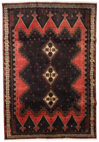 Afshar Tapis 165X238 D'orient Fait Main Marron Foncé/Rouge Foncé (Laine, Perse/Iran)