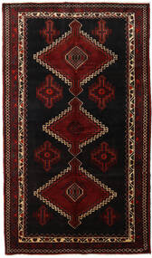 Hamadan Rug 157X267 Authentic  Oriental Handknotted Dark Brown/Dark Red (Wool, Persia/Iran)