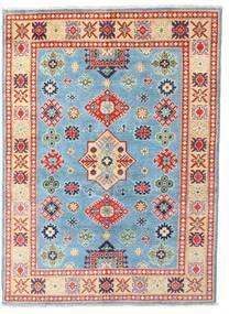 Kazak Rug 146X201 Authentic  Oriental Handknotted White/Creme/Dark Beige (Wool, Pakistan)