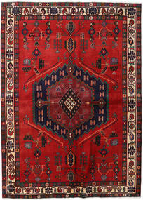 Afshar Rug 165X230 Authentic  Oriental Handknotted Dark Red/Rust Red (Wool, Persia/Iran)