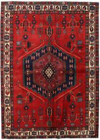 Afshar Tappeto 165X230 Orientale Fatto A Mano Rosso Scuro/Ruggine/Rosso (Lana, Persia/Iran)
