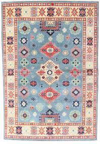 Kazak Dywan 169X228 Orientalny Tkany Ręcznie Beżowy/Jasnoniebieski (Wełna, Pakistan)