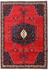 Afshar Tappeto 165X236 Orientale Fatto A Mano Rosso/Marrone Scuro (Lana, Persia/Iran)