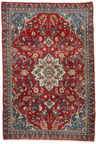 Hamadan Tappeto 80X121 Orientale Fatto A Mano Rosso Scuro/Nero (Lana, Persia/Iran)