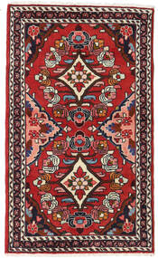 Hamadan Rug 76X127 Authentic  Oriental Handknotted Dark Red/Rust Red (Wool, Persia/Iran)