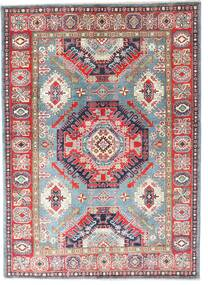 Kazak Rug 145X202 Authentic  Oriental Handknotted Light Grey/Dark Grey (Wool, Pakistan)