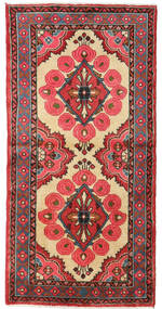 Senneh Szőnyeg 57X140 Keleti Csomózású Rozsdaszín/Sötétpiros (Gyapjú, Perzsia/Irán)