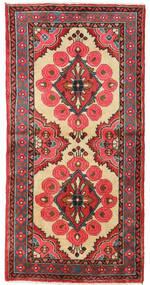 Senneh Matta 57X140 Äkta Orientalisk Handknuten Hallmatta Roströd/Mörkröd (Ull, Persien/Iran)