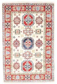 Kazak Dywan 77X119 Orientalny Tkany Ręcznie Beżowy/Jasnoszary (Wełna, Pakistan)