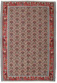 Kilim Senneh Tappeto 130X194 Orientale Tessuto A Mano Grigio Chiaro/Rosso Scuro (Lana, Persia/Iran)
