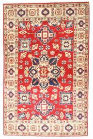 Kazak Matto 94X147 Itämainen Käsinsolmittu Vaaleanpunainen/Ruoste (Villa, Pakistan)
