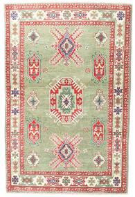 Kazak Szőnyeg 98X151 Keleti Csomózású Sötét Bézs/Bézs/Krém (Gyapjú, Pakisztán )