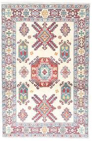 Kazak Tapis 95X146 D'orient Fait Main Beige/Gris Clair (Laine, Pakistan)