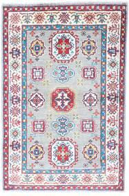 Kazak Dywan 80X123 Orientalny Tkany Ręcznie Biały/Creme/Jasnoszary (Wełna, Pakistan)