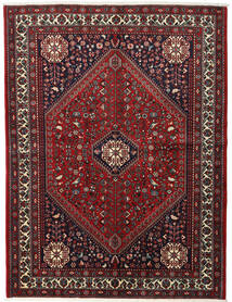 Abadeh Rug 153X204 Authentic Oriental Handknotted Dark Red/Black (Wool, Persia/Iran)