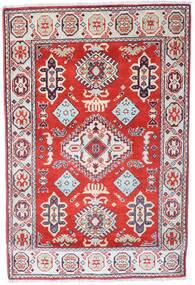 Kazak Dywan 86X128 Orientalny Tkany Ręcznie Jasnoszary/Jasnoróżowy (Wełna, Pakistan)