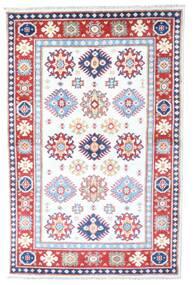 カザック 絨毯 98X149 オリエンタル 手織り ホワイト/クリーム色/ライトピンク (ウール, パキスタン)