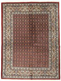 Moud Rug 151X198 Authentic  Oriental Handknotted Light Grey/Dark Red (Wool/Silk, Persia/Iran)