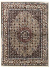 Moud Dywan 152X206 Orientalny Tkany Ręcznie Jasnoszary/Ciemnobrązowy (Wełna/Jedwab, Persja/Iran)