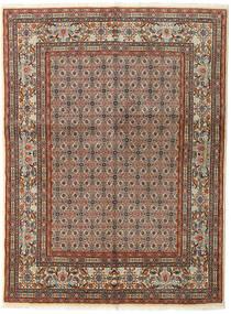 Moud Alfombra 150X196 Oriental Hecha A Mano Marrón Claro/Marrón Oscuro (Lana/Seda, Persia/Irán)
