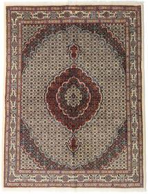 Moud Szőnyeg 150X193 Keleti Csomózású Sötétbarna/Világosszürke (Gyapjú/Selyem, Perzsia/Irán)