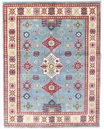 Kazak Matto 150X193 Itämainen Käsinsolmittu Vaaleanharmaa/Beige (Villa, Pakistan)