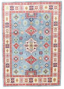 Kazak Rug 125X178 Authentic  Oriental Handknotted Beige/Light Blue (Wool, Pakistan)