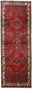 Hamadan Rug 98X280 Authentic  Oriental Handknotted Hallway Runner  Dark Red/Rust Red (Wool, Persia/Iran)