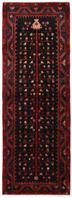 Hamadan Rug 104X300 Authentic  Oriental Handknotted Hallway Runner  Dark Red (Wool, Persia/Iran)